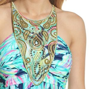 6cfb9bd77a4426 Lilly Pulitzer Dresses | Lannette Embellished Chiffon Maxi Dress ...